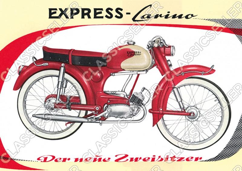 Express Carino Moped Poster Plakat Bild Kunstdruck