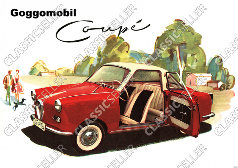 Glas Goggomobil Coupé Auto PKW Poster Plakat Bild