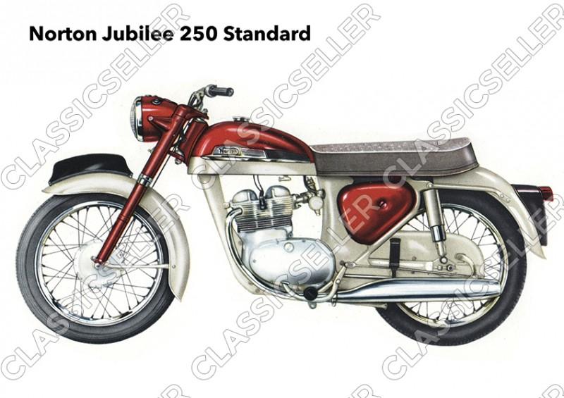 Norton Jubilee 250 Standard Motorrad Poster Plakat Bild Kunstdruck
