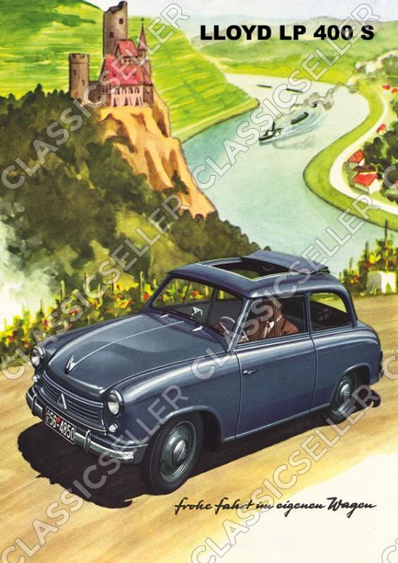 Lloyd LP 400 S LP400S PKW Auto Poster Plakat Bild