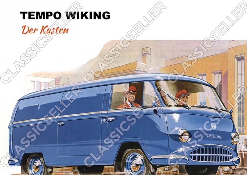 """Tempo Wiking """"Der Kasten"""" Kleintransporter Poster Plakat Bild"""