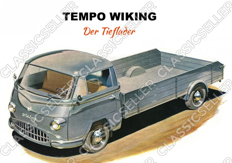 """Tempo Wiking """"The low loader"""" van Poster Picture"""