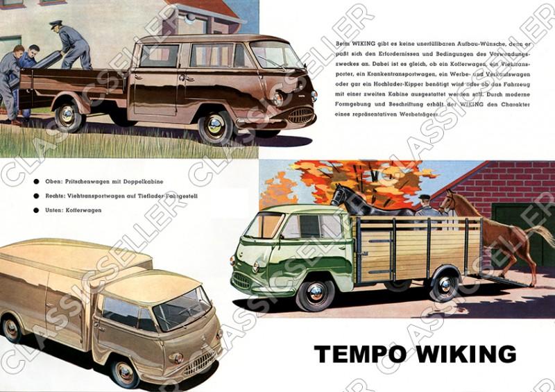 Tempo Wiking Kleintransporter Poster Plakat Bild