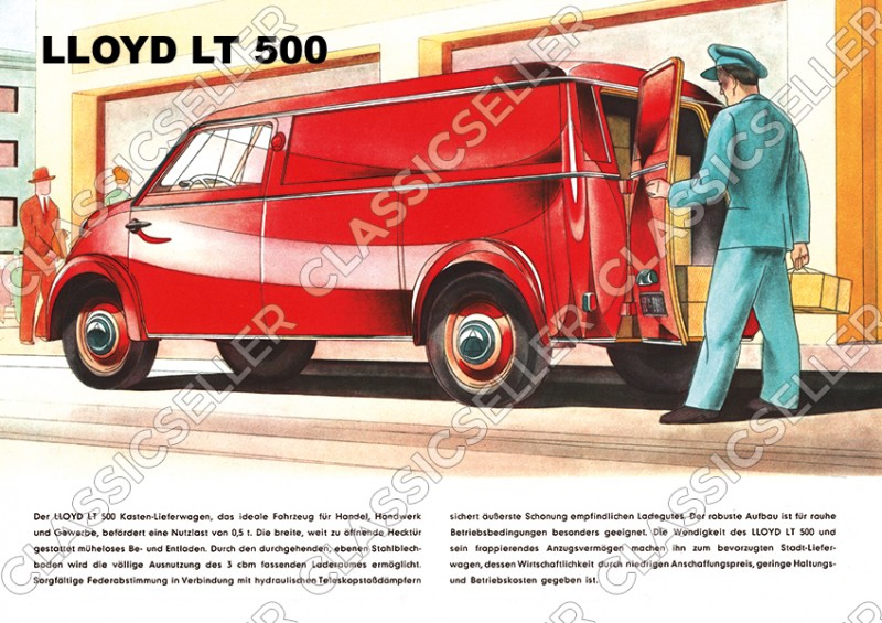 Lloyd LT 500 LT500 Kastenwagen Kleinbus Kleintransporter Poster Plakat Bild