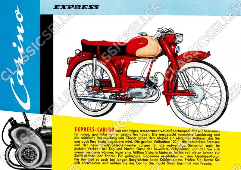 Express Carino Moped Poster Plakat Bild
