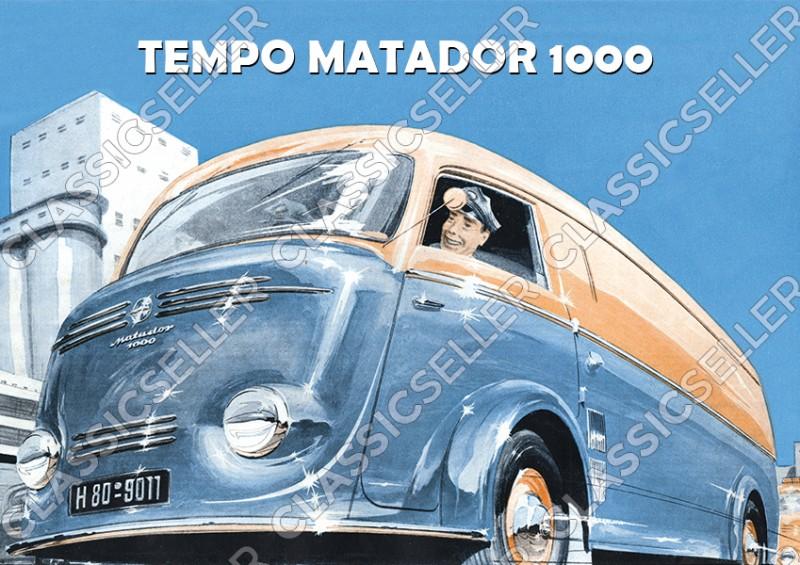 Tempo Matador 1000 Kleintransporter Poster Plakat Bild