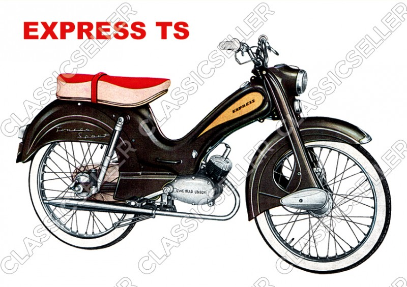 Express TS Moped Victoria Two-Wheel Union Poster Picture