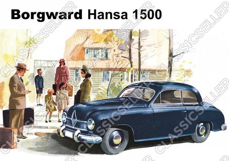 Borgward Hansa 1500 Auto PKW Poster Plakat Bild