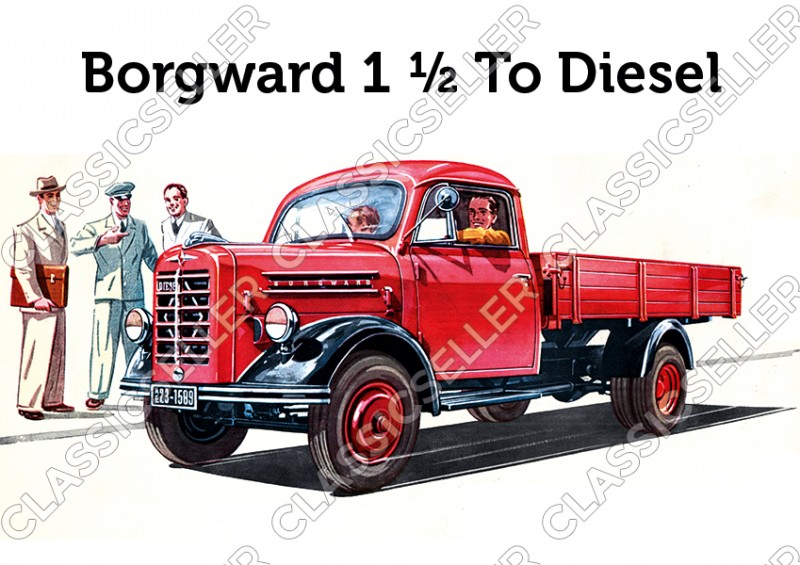 Borgward 1,5t To Truck Diesel Poster Picture
