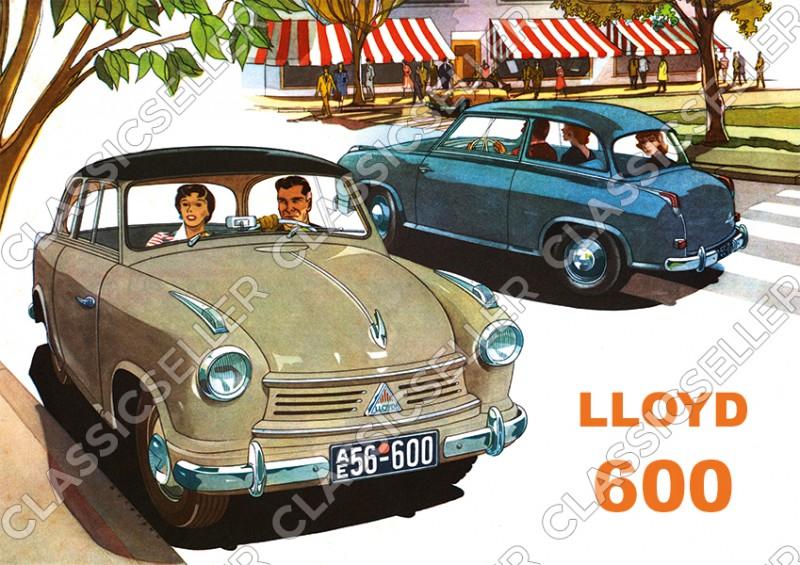 Lloyd 600 Auto PKW Poster Plakat Bild