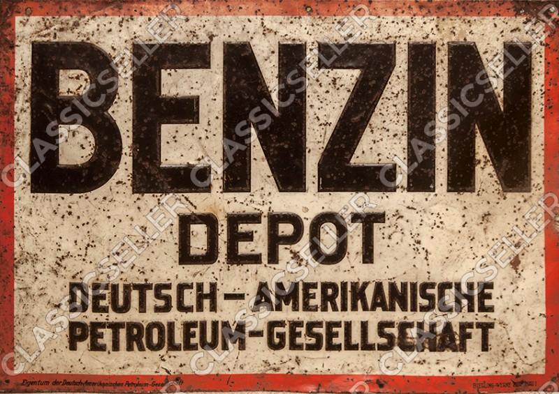 Benzin Depot DAPG Dapol Dapolin Esso Standard Tankstelle Poster Plakat Bild Werbung Reklame