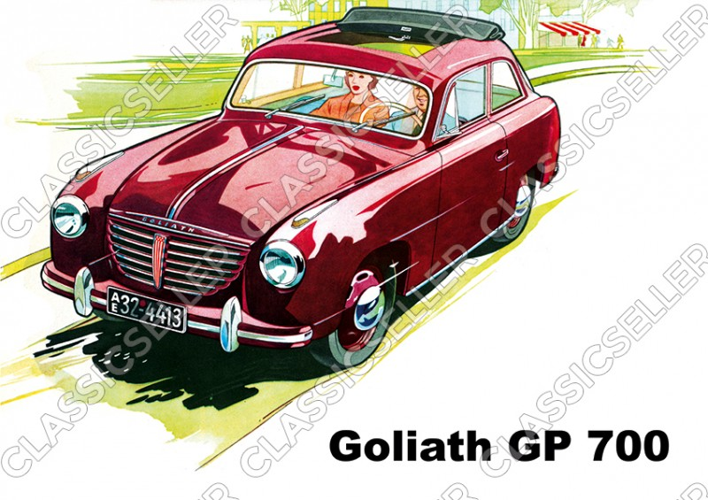 Goliath GP 700 Auto PKW Poster Plakat Bild