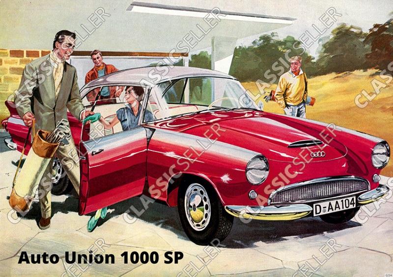 Auto Union AU 1000 Sp PKW Poster Plakat Bild