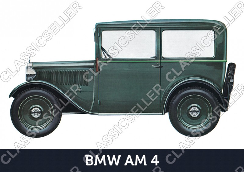 BMW AM4 3/20 PS Dixi Car Car Poster Picture