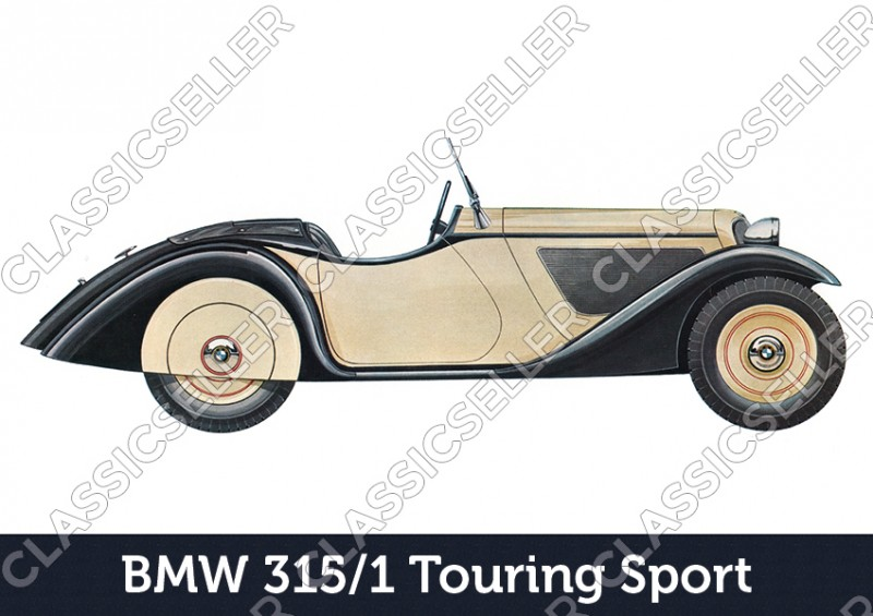 BMW 315/1 Touring Sport Car Car Poster Picture