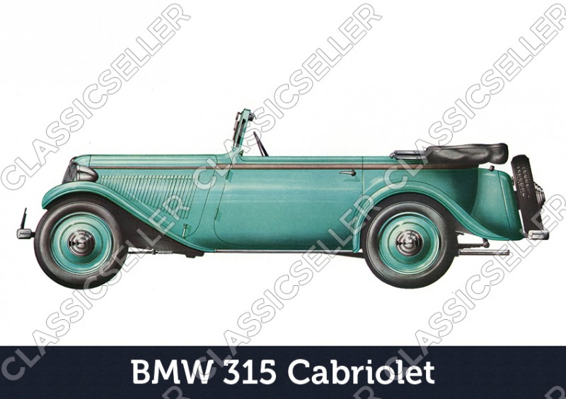 BMW 315 Cabriolet Car Car Poster Picture