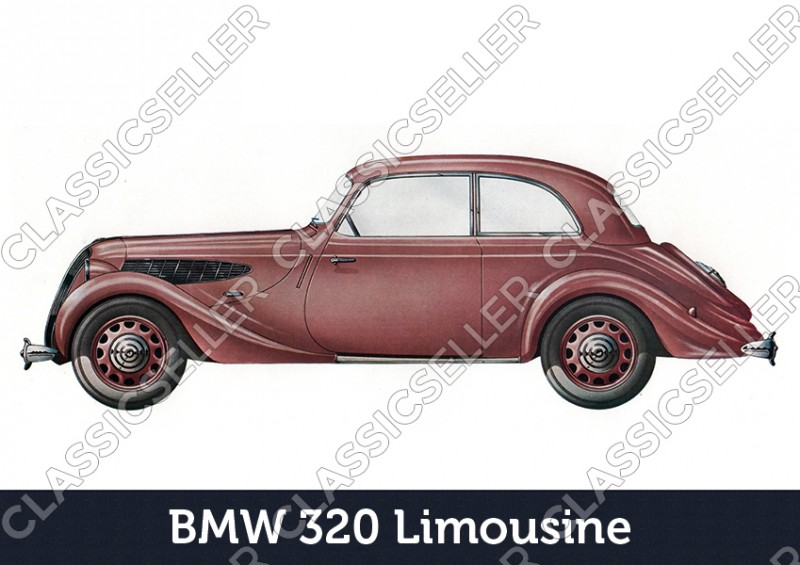 BMW 320 sedan car passenger car Poster Picture