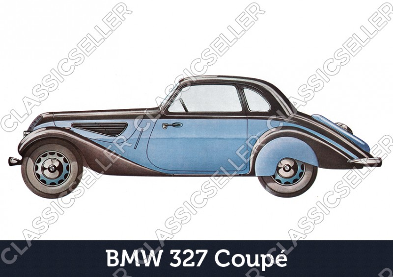 BMW 327 Coupé Car Car Poster Picture