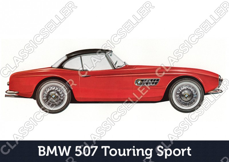 BMW 507 Touring Sport Car Car Poster Picture