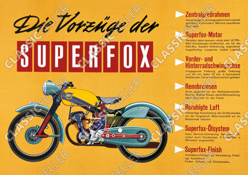 NSU Superfox motorcycle Poster Picture