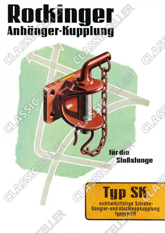 Rockinger Typ SK Anhänger-Kupplung Anhängerkupplung Reklame Werbung Poster Plakat Bild