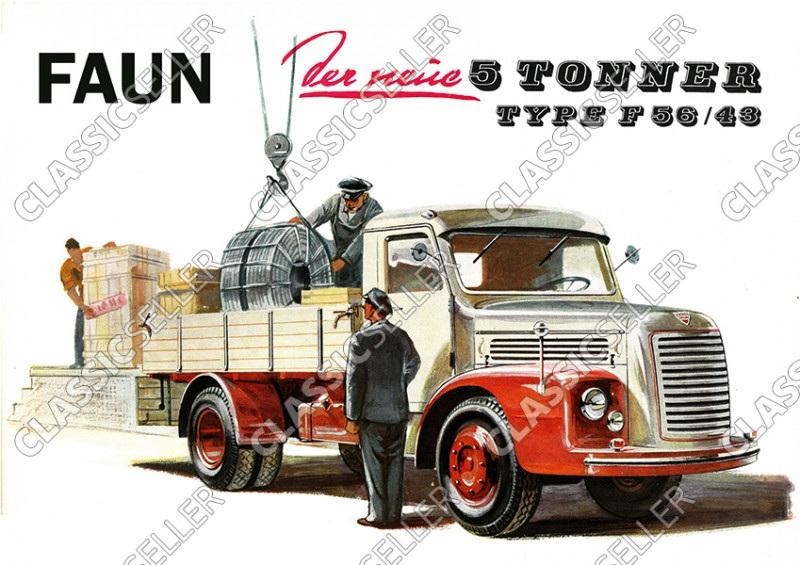 Faun 5 t. Type F 56/43 LKW Poster Plakat Bild