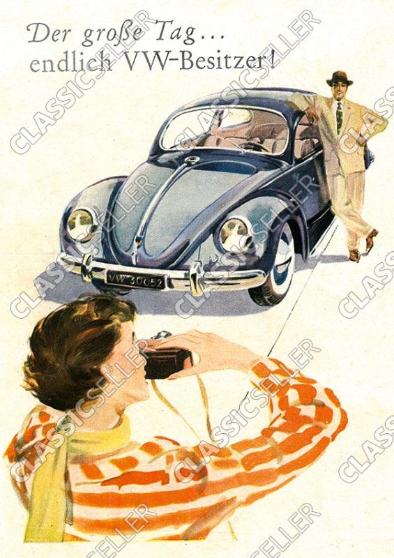 "Volkswagen ""Endlich VW-Besitzer"" Käfer Poster Plakat Bild"