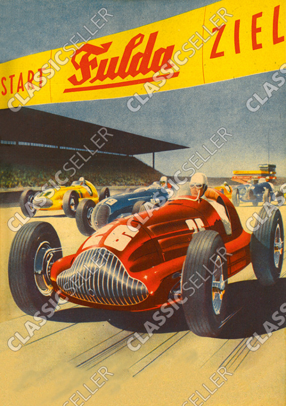 car racing event motorsports racing Fulda tires Poster Picture