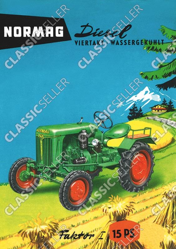 Normag Faktor 1 15 PS Diesel Traktor Schlepper Poster Plakat Bild