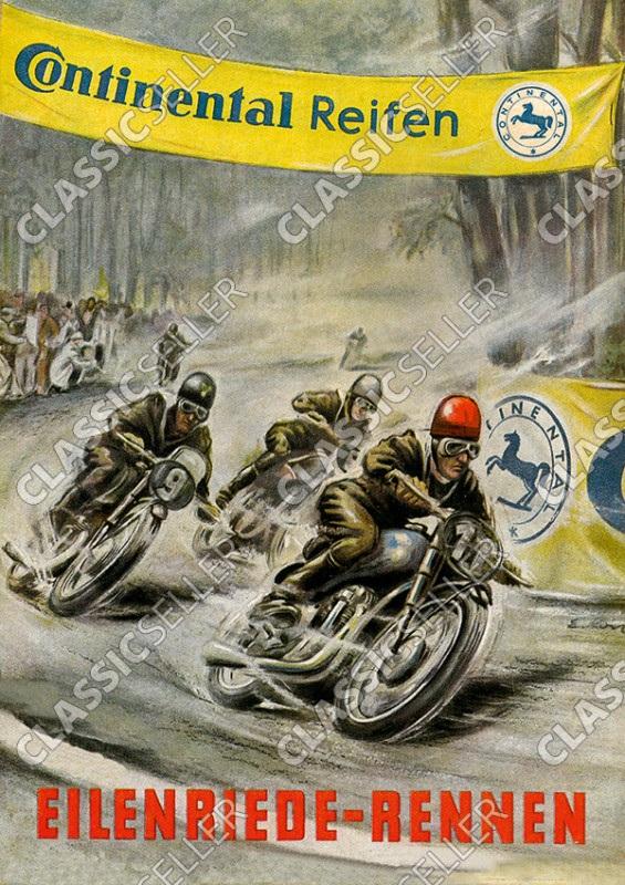 Eilenriede-Rennen Veranstaltung Motorsport Rennsport Motorrad Continental Reifen Poster Plakat Bild