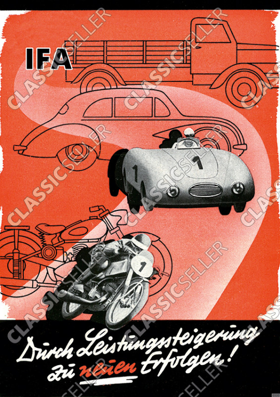 IFA race car motorcycle motorsports racing Poster Picture