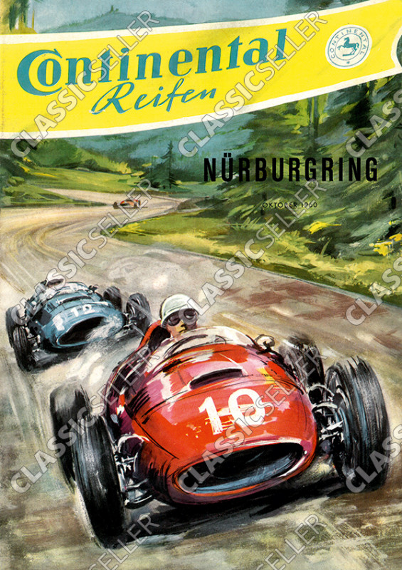 Nürburgring 1960 race event motorsports racing Continental tires Poster Picture