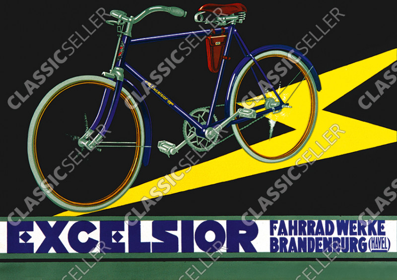 Excelsior bicycles bicycle Poster Picture