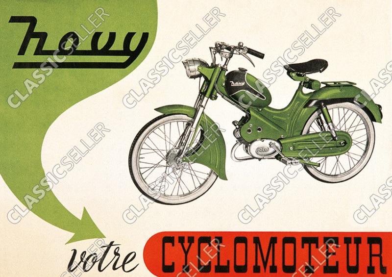 Novy votre Cyclomoteur Moped ILO Poster Plakat Bild