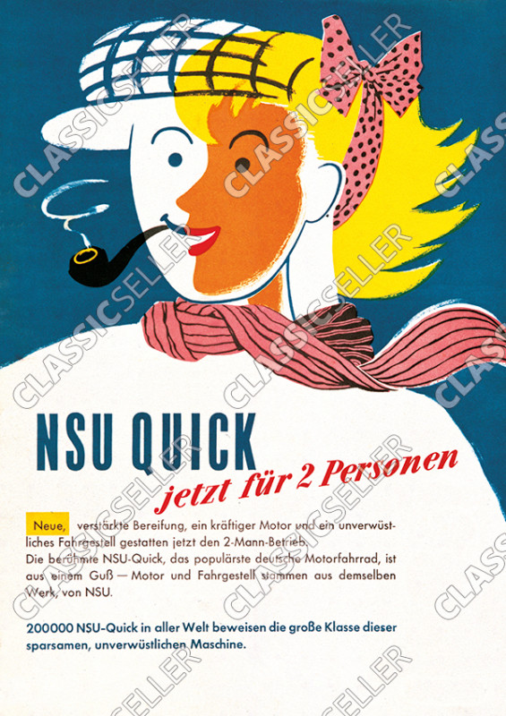 "NSU Quick ""Now for 2 people"" Poster Picture"