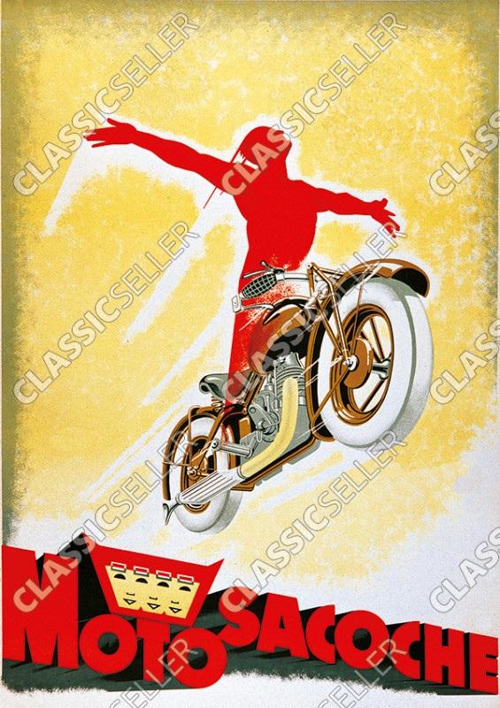 Motosacoche Motorrad Poster Plakat Bild