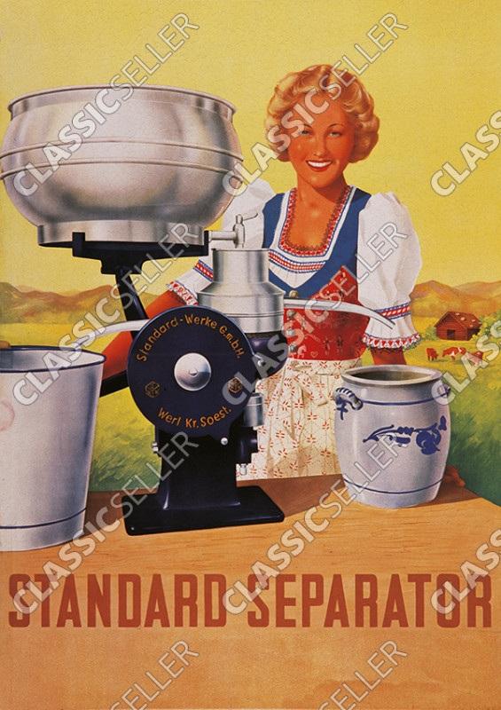 Standard Separator Milchzentrifuge Butterschleuder Poster Plakat Bild