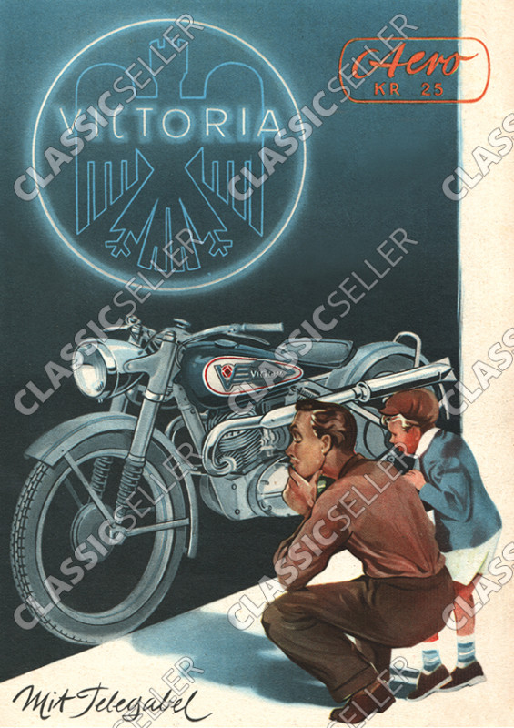 Victoria KR 25 KR25 Aero with telescopic fork motorcycle poster Picture