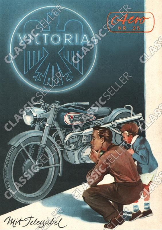 Victoria KR 25 KR25 Aero mit Telegabel Motorrad Poster Plakat Bild