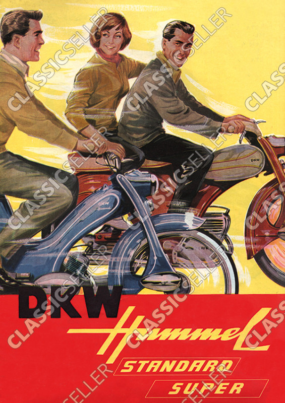 DKW Hummel Standard Super Moped Poster Plakat Bild