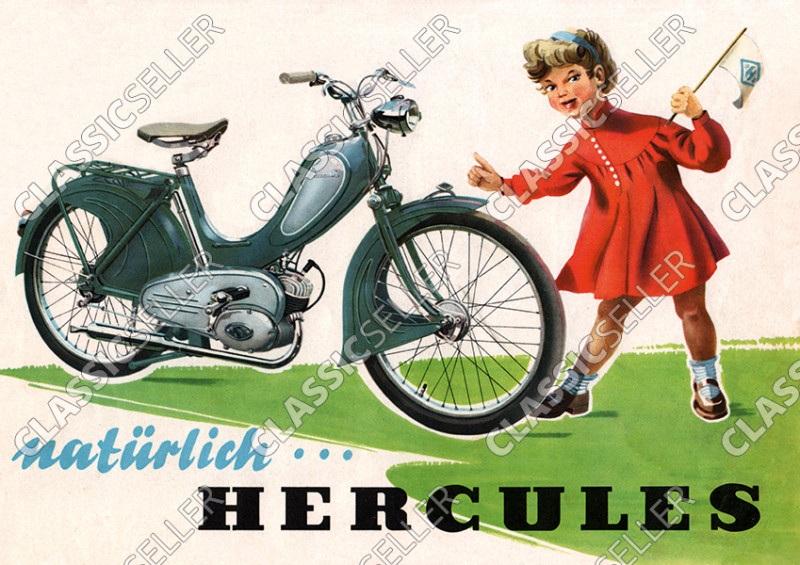 "Hercules ""Natürlich Hercules"" Moped Poster Plakat Bild"