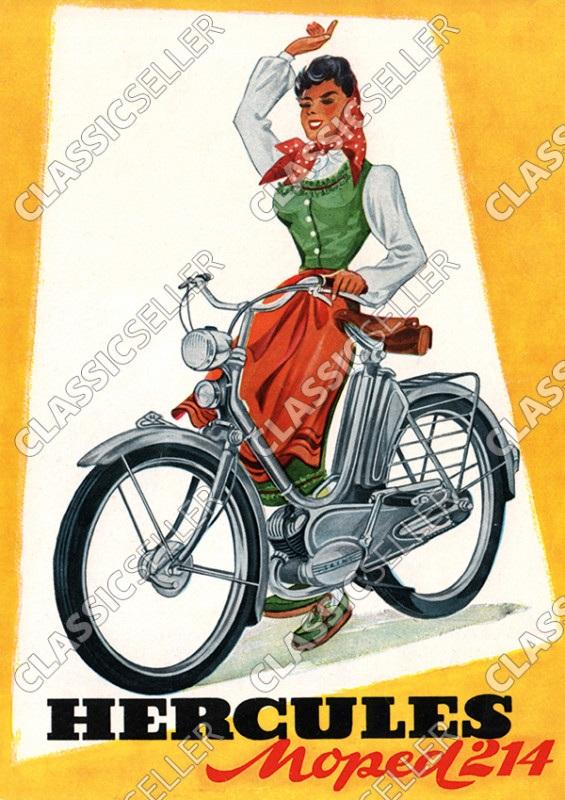 Hercules Typ 214 Moped Poster Plakat Bild