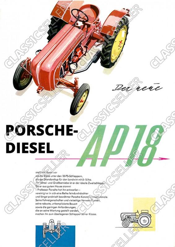 Porsche-Diesel AP 18 Traktor Dieselschlepper Poster Plakat Bild