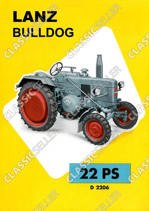 Lanz Bulldog D 2206 22 PS Traktor Dieselschlepper Poster Plakat Bild