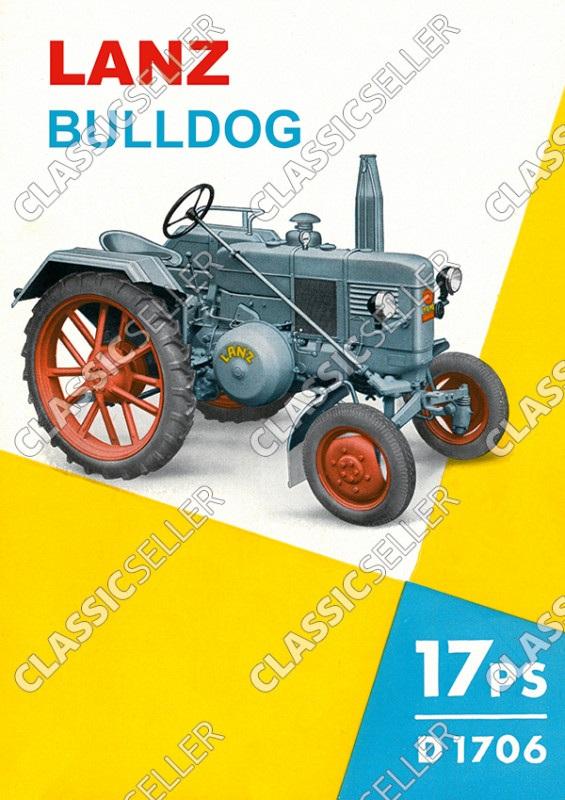 Lanz Bulldog D 1706 17 PS Traktor Dieselschlepper Poster Plakat Bild