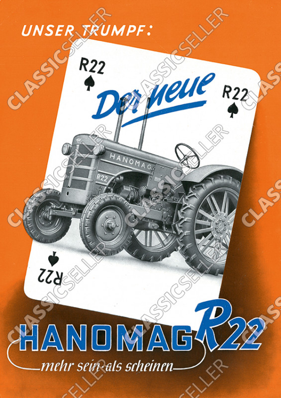 Hanomag R 22 R22 Traktor Dieselschlepper Poster Plakat Bild