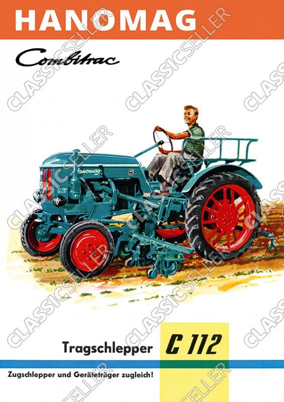 Hanomag Combitrac C 112 C112 Traktor Dieselschlepper Poster Plakat Bild