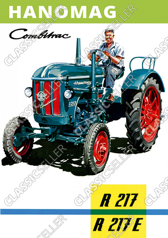 Hanomag Combitrac R 117 und R117 E Traktor Dieselschlepper Poster Plakat Bild