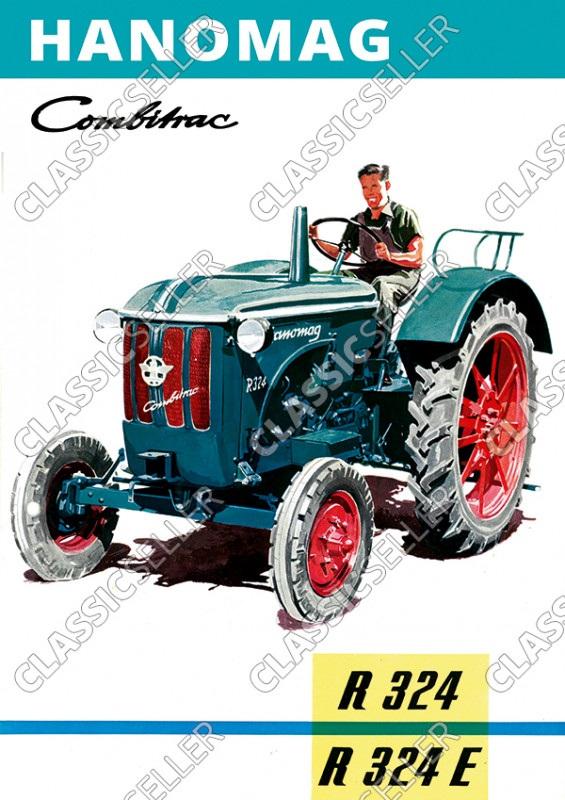 Hanomag Combitrac R 324 und R324 E Traktor Dieselschlepper Poster Plakat Bild
