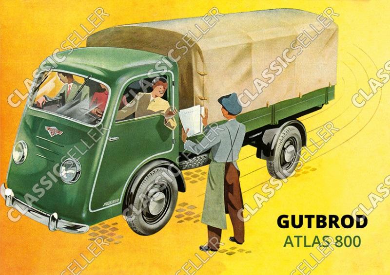 Gutbrod Atlas 800 Lastwagen Transporter LKW Poster Plakat Bild
